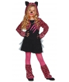 Roze tijgerprint carnaval kostuum voor meisjes
