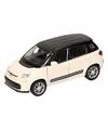 Speelgoedauto Fiat 500 L zwart 11,5 cm