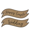 Wanddecoratie Happy Couple Wedding