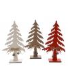 Witte decoratie kerstboom van hout