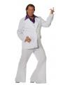 Witte disco heren kleding in grote maat